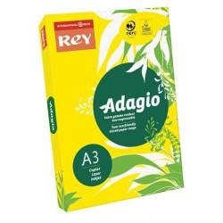 """Másolópapír, színes, A3, 80 g, REY """"Adagio"""", intenzív sárga"""