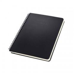 """Spirálfüzet, exkluzív, A5, vonalas, 80 lap, keményfedeles, SIGEL """"Conceptum"""", fekete"""