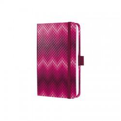 """Jegyzetfüzet, exkluzív, 95x150 mm, vonalas, 174 oldal, keményfedeles, SIGEL """"Jolie"""", Pink Passion"""