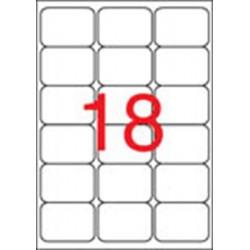 Etikett, univerzális, 63,5x46,6 mm, kerekített sarkú, APLI, 1800 etikett/csomag
