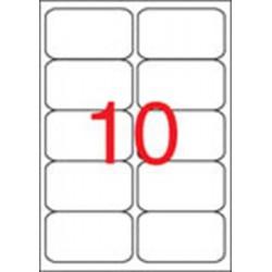 Etikett, univerzális, 99,1x57 mm, kerekített sarkú, APLI, 1000 etikett/csomag