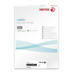 Etikett, univerzális, 63,5x38,1 mm, kerekített sarkú, XEROX, 2100 etikett/csomag