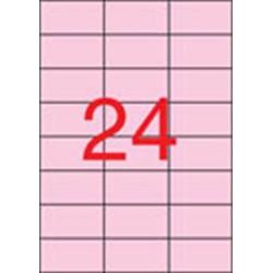 Etikett, 70x37 mm, színes, APLI, pasztell rózsaszín, 480 etikett/csomag