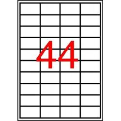 Etikett, 48,5x25,4 mm, poliészter, kerekített sarkú, APLI, átlátszó, 440 etikett/csomag