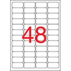 Etikett, 45,7x21,2 mm, biztonsági, kerekített sarkú, APLI, 480 etikett/csomag