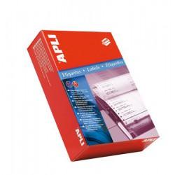 Etikett, mátrixnyomtatókhoz, 1 pályás, 210x148,1 mm, APLI, 1000 etikett/csomag