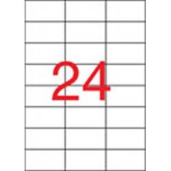 Etikett, 70x37 mm, felülcímkézéshez (tökéletes fedés), 480 etikett/csomag