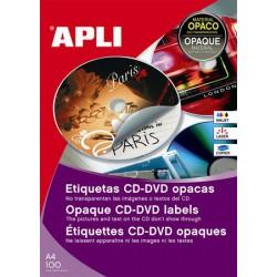 Etikett, CD/DVD, A4, fedőetikett, APLI