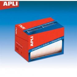Etikett, 8x12 mm, kézzel írható, kerekített sarkú, tekercsben, APLI, 12000 etikett/csomag