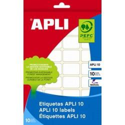 Etikett, 25x40 mm, kézzel írható, kerekített sarkú, APLI, 160 etikett/csomag