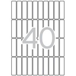 Etikett, 13x50 mm, kerekített sarkú, A5 hordozón, APLI, 600 etikett/csomag