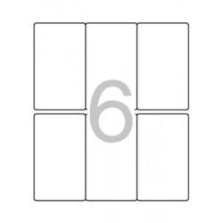 Etikett, 49x82 mm, kerekített sarkú, A5 hordozón, APLI, 90 etikett/csomag