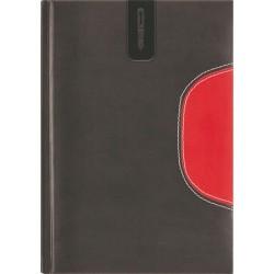 """Tárgyalási napló, B5, DAYLINER, """"Memphis"""", fekete-piros"""