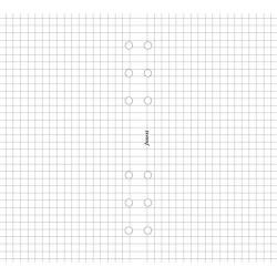 Kalendárium betét, jegyzetlap, A4, kockás, FILOFAX, fehér