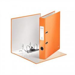 """Iratrendező, 52 mm, A4, PP/karton, lakkfényű, LEITZ """"180 Wow"""", narancssárga"""