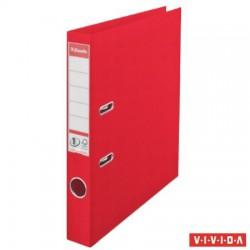 "Iratrendező, 50 mm, A4, PP, élvédő sínnel, ESSELTE ""Standard"", Vivida piros"