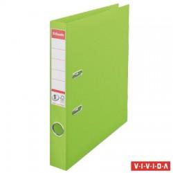 "Iratrendező, 50 mm, A4, PP, élvédő sínnel, ESSELTE ""Standard"",  Vivida zöld"