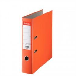"""Iratrendező, 75 mm, A4, PP/karton, élvédő sínnel, ESSELTE """"Economy"""", narancssárga"""