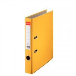 """Iratrendező, 50 mm, A4, PP/karton, élvédő sínnel, ESSELTE """"Economy"""", sárga"""