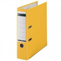 """Iratrendező, 80 mm, A4, PP/karton, élvédő sínnel, LEITZ """"180"""", sárga"""