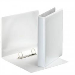 Gyűrűs könyv, panorámás, 2 gyűrű, D alakú, 46 mm, A5, PP, ESSELTE, fehér