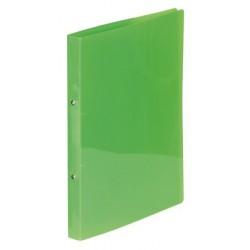 """Gyűrűs dosszié, 2 gyűrű, 25 mm, A4, PP, VIQUEL """"Propyglass"""", zöld"""