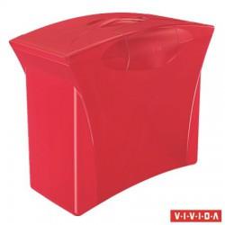 """Függőmappa tároló, műanyag, 5 db függőmappával, mobil, ESSELTE """"Europost"""", Vivida piros"""