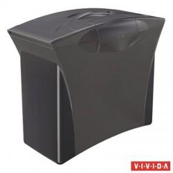 """Függőmappa tároló, műanyag, 5 db függőmappával, mobil, ESSELTE """"Europost"""", Vivida fekete"""