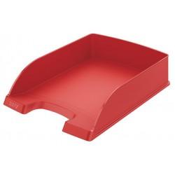 "Irattálca, műanyag, LEITZ ""Plus"", piros"