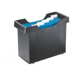 """Függőmappa tároló, műanyag, 5 db függőmappával, LEITZ """"Plus"""", fekete"""