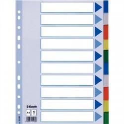 Regiszter, műanyag, A4, 10 részes, ESSELTE