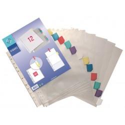 Genotherm, lefűzhető, jelölőfüles, A4, 90 mikron, víztiszta, 12 részes, VIQUEL