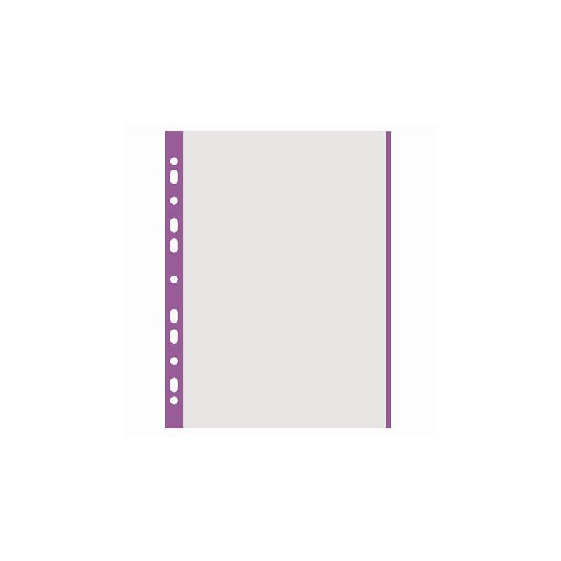 Genotherm, lefűzhető, színes szélű, A4, 40 mikron, narancsos felület, DONAU, lila