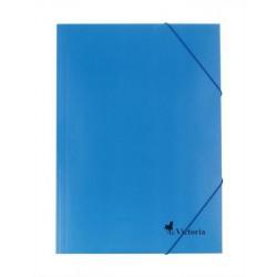 Gumis mappa, karton, A4, VICTORIA, kék