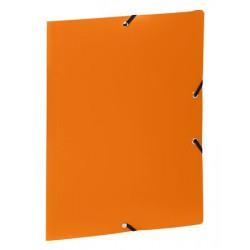 """Gumis mappa, 15 mm, PP, A4, VIQUEL """"Standard"""", narancssárga"""