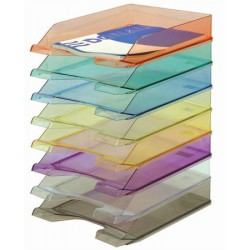 Irattálca, műanyag, DONAU, áttetsző lila