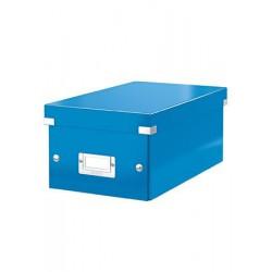 """DVD tároló doboz, lakkfényű, LEITZ """"Click&Store"""", kék"""