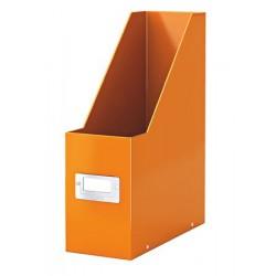 """Iratpapucs, PP/karton, 95 mm, lakkfényű, LEITZ """"Click&Store"""", narancssárga"""