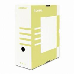 Archiváló doboz, A4, 120 mm, karton, DONAU, sárga