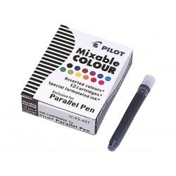 """Töltőtoll patron, PILOT """"Parallel Pen"""", 12 különböző szín"""