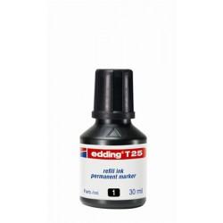 """Utántöltő alkoholos markerhez, EDDING """"T25"""", fekete"""
