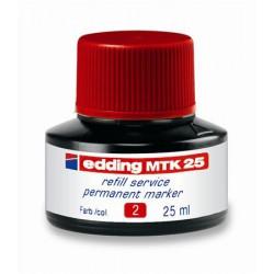 """Utántöltő alkoholos markerhez, EDDING """"MTK 25"""", piros"""