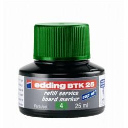 """Utántöltő tábla- és flipchart markerhez, EDDING """"BTK 25"""", zöld"""