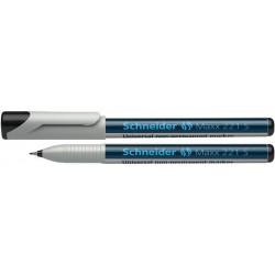 """Alkoholmentes marker, OHP, 0,4 mm, SCHNEIDER """"Maxx 221 S"""", fekete"""
