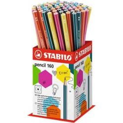 "Grafitceruza display, HB, hatszögletű, STABILO ""Pencil 160"""