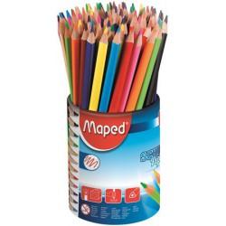 """Színes ceruza készlet, háromszögletű, ceruzatartó, MAPED """"Color`Peps """""""