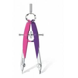 """Körző készlet, precíziós, 2 darabos, STAEDTLER """"Mars Comfort Neon"""", neon rózsaszín/lila"""