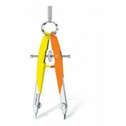 """Körző készlet, precíziós, 2 darabos, STAEDTLER """"Mars Comfort Neon"""", neon sárga/narancs"""
