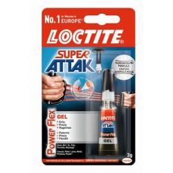 "Pillanatragasztó gél, 3 g, HENKEL ""Loctite Super Attak PowerFlex Gel"""