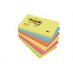 Öntapadó jegyzettömb, 76x127 mm, 100 lap, 3M POSTIT, energikus színek